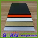 Panel Compuesto de Aluminio PVDF negro por fuera de Revestimiento de pared
