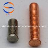 Стержень ISO13918 M3 продетый нитку нержавеющей сталью с фланцом (PS)
