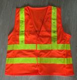 Maglia riflettente gialla di vendita calda di sicurezza della maglia di buona qualità