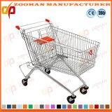 Цинк или покрынная кромом вагонетка руки супермаркета (Zht124)