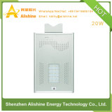 Installation facile 20W tout dans un réverbère solaire Integrated