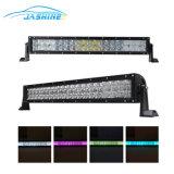120W 21.5 barre pilotante légère de vente chaude d'éclairage LED de lampe de travail de barre d'éclairage LED de pouce 8400lm 5D RVB