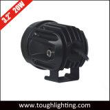 """고품질 3.2 """" 기관자전차를 위한 램프를 모는 20W 둥근 플러드 반점 LED"""