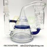 Großhandelsölplattform-Recycler-Glaswasser-Rohr-Pfeife mit Fabrik-Preis