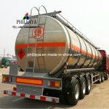 기름 디젤 연료 저장 수송 트럭 반 알루미늄 탱크 트레일러