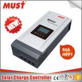 45A 60A 80d'un ventilateur de refroidissement du contrôleur de charge solaire