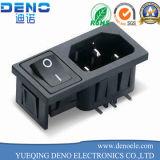 Гнездо силы переключателя входа утверждения 10A 250V 3pin IEC320 C14 VDE UL мыжское