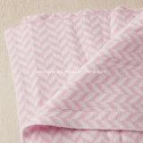 100% manta suave reversible hecha punto algodón del bebé