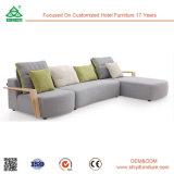 Möbel-modernes Couch-Wohnzimmer-Ecken-Sofa-Bett mit Kissen