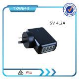 5V 4.2A 4 de Lader van de Muur van de Adapter van de Lader USB van de Reis van het Huis van Havens USB