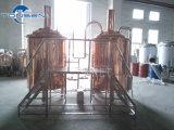 Birra domestica che fa macchina con il serbatoio di flocculazione, placcato di rame rosso, sistema di controllo del PLC dal prezzo di fornitore della Cina