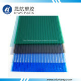 100% de material virgen hueco de la hoja de techos de policarbonato mate