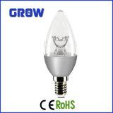 5W luz de bulbo de prata da vela do diodo emissor de luz da flor E14 C37 (C37-867-IC-S)
