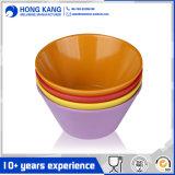 多色刷りのディナー・ウェアの穿孔器のメラミンボールの食糧容器