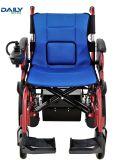 中断が付いている軽量の容易な折るアルミニウム力の車椅子