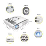 Mode économie d'alimentation LED DLP Projecteur multimédia HDMI pour Office