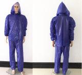 Venda por grosso de poliéster à prova de plástico de PVC barata chuva Suit Resguardo de chuva