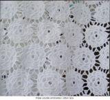 Tessuto del merletto del cotone del ricamo (WD123)