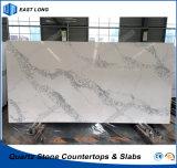 Pedra projetada de quartzo para a bancada da cozinha com padrões do GV (Calacatta)
