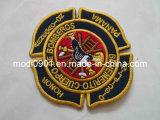 Emblema de bordado 3D / Patch + Flocagem de transferência de calor para desgaste de futebol / Calçado de futebol de calças de pressão de calor Embroidery Patch-Garment Label