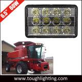 12 볼트 6X4in 60W 직사각형 Cih 시리즈 트랙터 LED 택시 또는 두건 빛