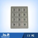12 touches plates Clavier de téléphone, clavier en acier inoxydable, clavier anti-vandal