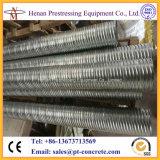 Sistema acanalado galvanizado pretensado del postensado del conducto del metal