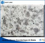 Duurzame Countertop van het Kwarts voor Bouwmateriaal van de Oppervlakte van de Steen het Stevige Met Concurrerende Prijs (dubbele & veelvoudige kleuren)