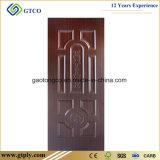porta moldada HDF da pele de Wendge da melamina de 3mm para portas interiores