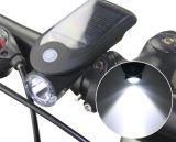 Luz delantera del USB LED del LED de la bicicleta solar de la bici