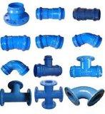 Garnitures malléables à flasque et connectables de fer pour la pipe de PVC