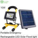 10W 비상사태 휴대용 재충전용 태양 LED 플러드 점화