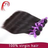 安く100%加工されていなく自然なカラーバージンのブラジルの毛の織り方の直毛