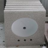Parte superiore di superficie solida di pietra artificiale prefabbricata di vanità per la stanza da bagno