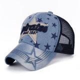 Бейсбольная кепка сетки взрослый джинсовой ткани хлопка способа Nylon (YKY3444)