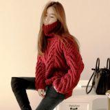 Пуловер из руки Вязаная кофта покрыть куртка одежды Одежда Pullover трикотажных изделий