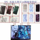 Caja móvil del mármol TPU del esmalte del caso para el iPhone 7