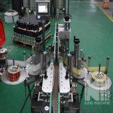 Автоматический двойник встает на сторону машина для прикрепления этикеток бутылки стикера