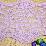 Merletto netto di nylon della maglia di immaginazione della guarnizione del ricamo del poliestere del merletto del commercio all'ingrosso 14.5cm della fabbrica del ricamo di riserva di larghezza per l'accessorio di alte mode & le tessile domestiche (BS1095)