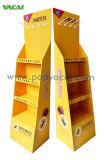 Los alimentos Expositor de piso cartón corrugado de cartón 5 estantes mostrar