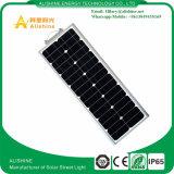 50W Solar à prova de luzes de rua com certificado CE exterior