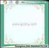 Teto de polimero de estilo simples de venda simples - Moldura dourada de ouro