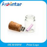Vara do USB da forma do frasco do disco do USB Pendrive da madeira