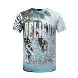 T-shirt d'hommes d'impression de sublimation du T-shirt 3D de coton estampé par coutume d'OEM
