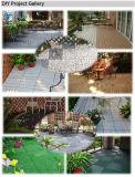 PE 기초를 가진 옥외 맞물리는 마루 자연적인 돌 DIY 석회화 석판 모자이크 정원 도와