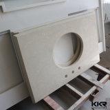 """Kingkonree 60 """" 2cmの厚い水晶大理石の石のキッチンカウンター"""