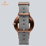 Relógio de pulso novo 71330 de quartzo das senhoras do aço inoxidável do projeto da forma