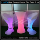 Muebles de PE Material LED con cambio de color para Bar Garden