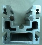 Le profil en aluminium pour l'industrie, Brown a anodisé, l'extrusion en aluminium