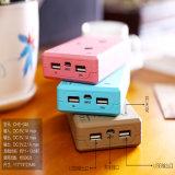 귀여운 판지 힘 은행 10400mAh는 Portable Powerbank USB 이중으로 한다